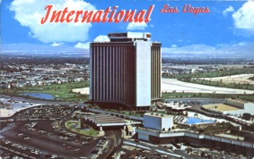 postcard from the International Hotel, Las Vegas