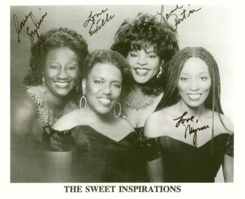 signed photograph of The Sweet Inspirations