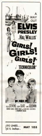 Girls! Girls! Girls! advertisement mat
